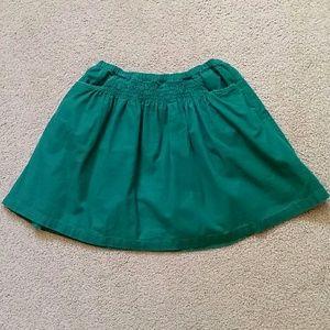 Mini Boden green corduroy skirt, size 7-8 yrs